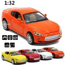 High Simulation 1:32 Maserati Super Sports Alloy Car Model Diecast Metal Vehicles Pull Back Acousto-optic Car For Kids Toys(China)