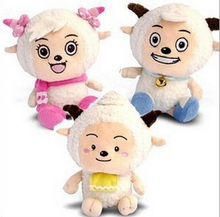 1pc 25cm Cartoon Pleasant Goat Staffed Sheep Plush Toys Doll Children's day Gifts Kids toys