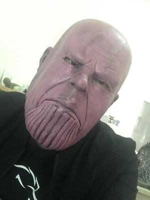 Thanos Cosplay Mask & Gauntlet Take Control of Your Infinity Saga Universe 16