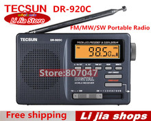 БЕСПЛАТНАЯ ДОСТАВКА TECSUN DR-920C Digtal Дисплей FM/MW/SW Рация DR-920