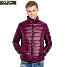 2017 New Winter Down Jacket Men 90 White Duck Down Coat Ultralight Down Jacket Male Windproof Warm Parka Plus Size 4XL 5XL 6XL
