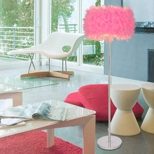 NEW Multi-color can be selected Bedroom living room floor lamp feather feather light modern lamp floor lights(China)