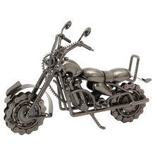 Home Decor Halley motorcycle Figurines Metal Decoration Craft Gift Office Decoration Classic Gold Famous Metal Bronze Craft(China)