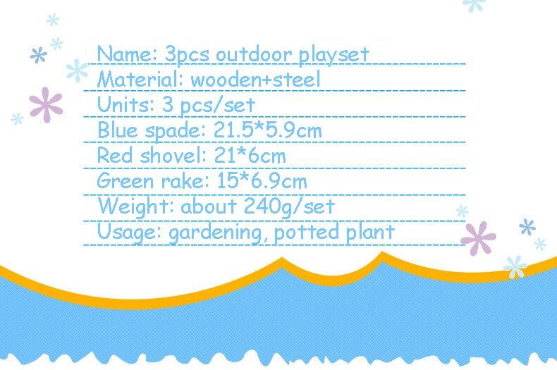 Playset Outdoor Gardening Tools 3PCS SET MINI Spade Shovel