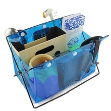 Waterproof PVC Desk Comsmetics Stationery Storage Rack Organizer Sundries Holder Portable Storage Bags Table Rangement