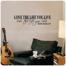 Bob Marley Quote Wall Decal Decor Love Life Words Large Nice Sticker Text /Quote/Stickers Vinyl Wall Art Decals/Home Decor