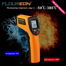 Floureon GM320 Laser LCD Digital IR Infrared Thermometer Professional Non-contact Temperature Meter Gun For Industry Home Use(China)