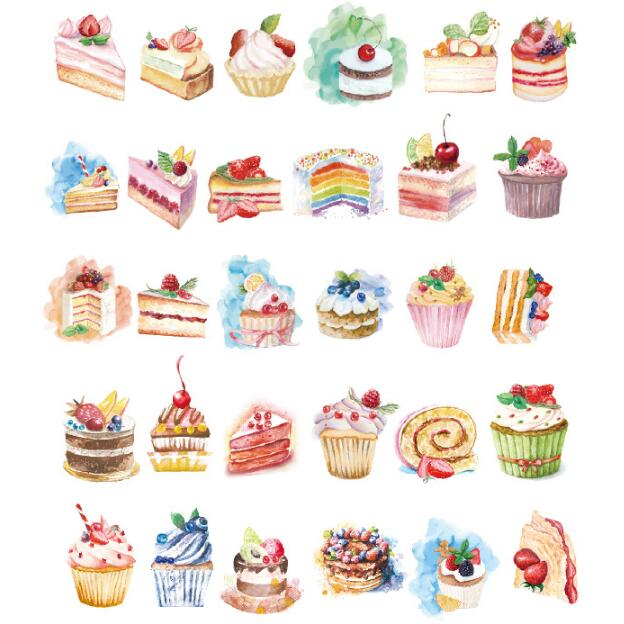 30pcs/lot Birthday Cake design postcards greeting card christmas card birthday card creative gift cards(China)