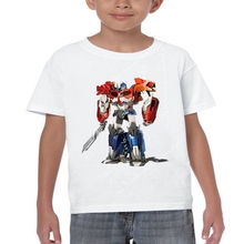 2017 Boys Clothes Brand Design Autobots Print T Shirts Customized Cartoon Optimus Prime T-Shirt Boy Summer Tops ETM-R2065