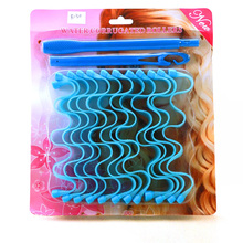 11pc Watermark shaped manually curlers hair curlers makeup hair curlers 30cm hair styling roller accesseries color random no box(China)