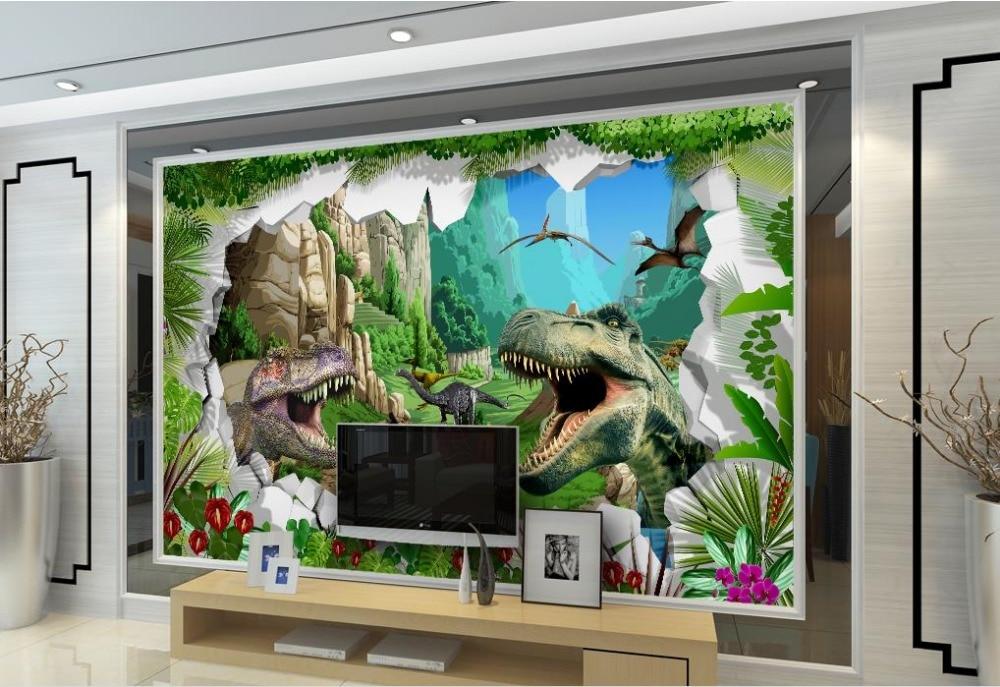 custom 3d mural wallpaper Ancient Dinosaur Era 3D TV Sofa Dining Room Backdrop 3d mural wall papers home decor living room<br><br>Aliexpress