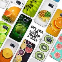 lemon Oranges kiwi green Bell pepper splash Arts Clear Case Cover Coque Shell for Samsung Galaxy S3 S4 S5 Mini S6 S7 Edge Plus(China)