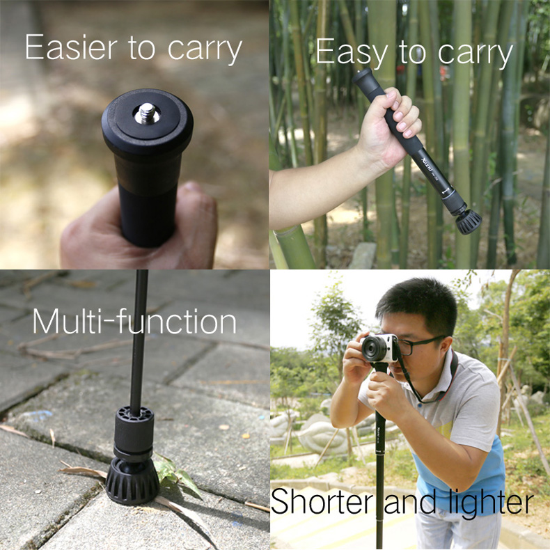 XILETU XM-256 Monopod  47.8inch Handy Tripod Monopod/Selfie Stick/Pole For Camera/Camcorder/Smart Phone/Mirrorless camera