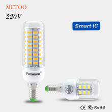 100% Original SMART IC Control No Flicker LED Corn lamp E14 220V 230V long LifeSpan Spotlight Bulb Protect eye health LEDs light
