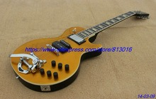 Hot!custom-made electric guitar lp gold standard,special customised pickups way,yellowish pearl inlay,free shipping!