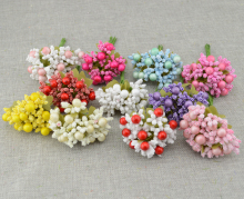 10pcs Free shipping Artificial flowers Foam flower bud DIY wreath material Bride wrist lovely flower Wedding flower decoration