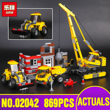 Lepin 02042 Genuine The Demolition Site Set 60076 Building Blocks Bricks Educational Toys As Kid`s Birthday Funny Gifts 869Pcs