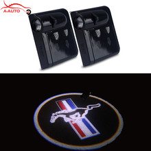 2 x Wireless LED Welcome Car Door Laser Projector Logo Ghost Shadow For Ford focus 2 3 Fiesta mondeo Mustang Emblem V6 Cobra GT