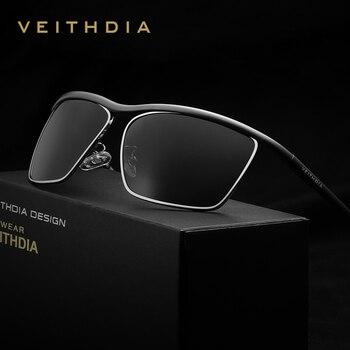 VEITHDIA Brand Aluminum Magnesium Men's Sun glasses Polarized Mirror Lens Outdoor Eyewear Accessories Sunglasses For Men 6381