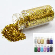 Tracy Simple Nail New 12 Colors DIY Glitter Powder Dust Tips Nail Art Bottle Sets 3d Nail Art Decorations Sequin Sticker TRNC322