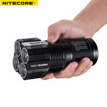 Rechargeable Flashlight NITECORE TM26 4 * CREE XM-L2 U3 LED max. 4000LM Beam Distance 454 meters waterproof camping torch(China)