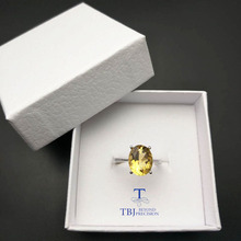 TBJ,Simple natural gemstone Ring,Natural 3.5ct Citrine oval cut 9*11mm setting in 925 sterling silver ,original fine jewelry