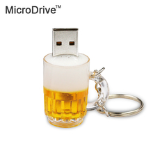 microdrive USB Flash Drive Real Capacity 64GB High Speed Beer Bottle 8GB 16GB 32GB Memory Usb Stick 2.0 PenDrive Pendrive For PC