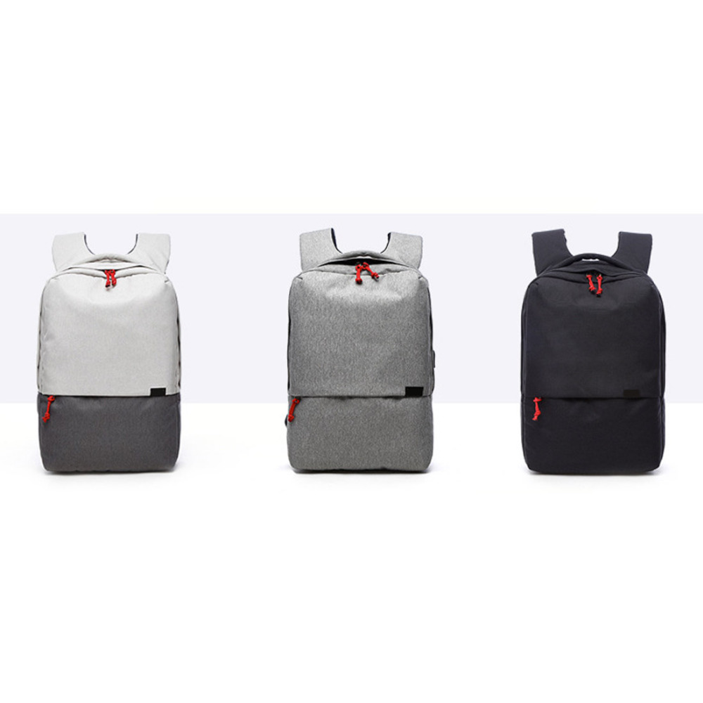 NEW Men Canvas Laptop Backpack With USB Charging Port Fashion Travel Shoulder Bags College Student Notebook Computer Rucksack<br>