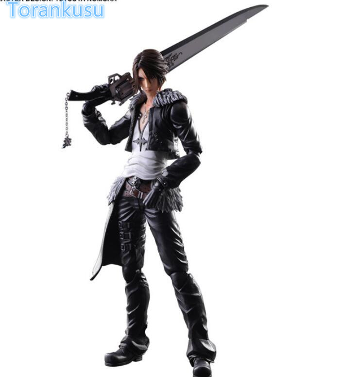 Final Fantasy Action Figure Dissidia Squall Play Arts Kai Collection Model Toy 260mm Game Final Fantasy Squall Playarts PA25<br>