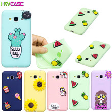 Soft Candy Silicone Case For Coque Samsung Galaxy J7 2017 J5 J3 S8 Plus J310 J510case 3D Cartoon Protective Back Cover Free Film(China)