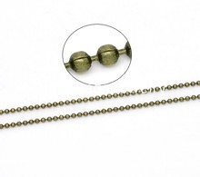 Doreen Box Lovely 10M Bronze Tone Ball Chains Findings 1.5mm Dia. (B14663)