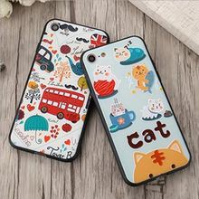 3D Carton Cat Bus Mandala Flower Soft TPU Cases Covers For Iphone Oppo Vivo Xiaomi Mobile Phone Back Covers For Oppo F1S F3 A57
