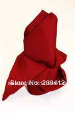 10pcs Dark Cherry  Red Napkin, Polyester Plain Napkin 50x50cm for Wedding Events &Party,Restaurant&Hotel,