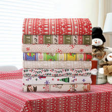 1 meter Christmas Pattern Fabric for Bags Sofa Covers Table Cloth Cushion Cheap Fabric China Home Textiles Tecidos Material(China)