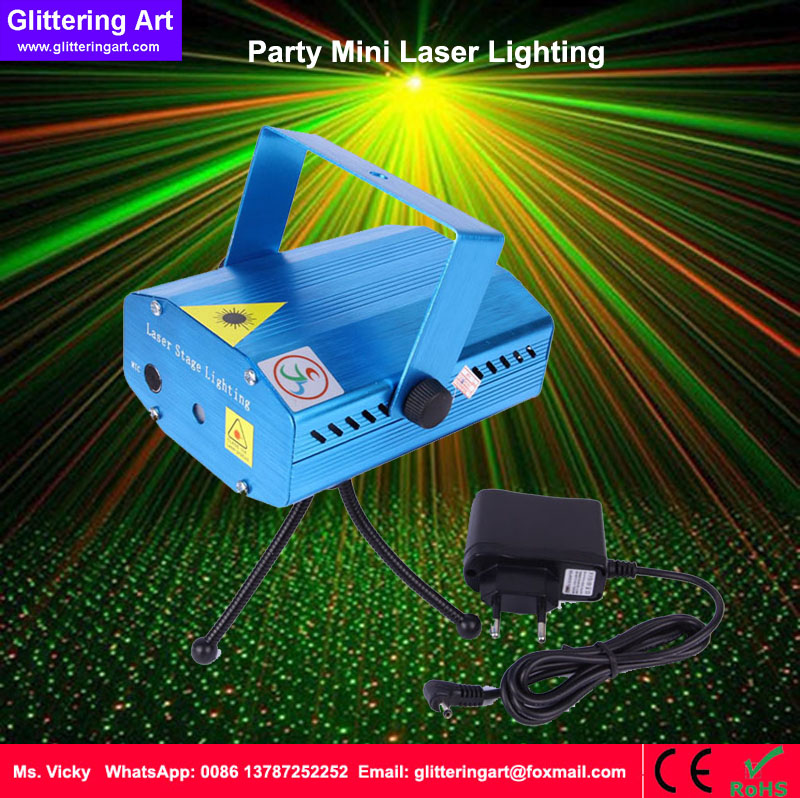 New arrival Mini R&amp;G DJ Disco Light Stage Xmas Party Laser Lighting Show projector DJ band green and red laser<br>