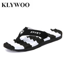 KLYWOO Plus Size 45 Famous Brand Designer Men Sandals Slippers Casual Shoes Open Toe Flip Flops Summer Outdoor Beach Men Shoes(China)