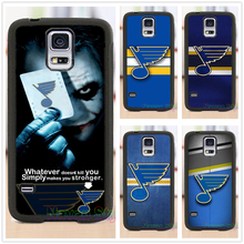 NHL St Louis Blues With Joker Poker phone case cover for Samsung Galaxy s3 s4 s5 Note 3 4 5 s6 s7 s6 edge s7 edge #CG237