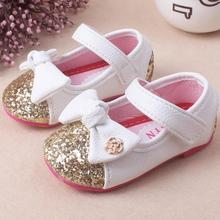 New Spring Children Princess Flat Shoes Children Dress Little Girls Princess Single Shoes Kids Leather Shoes Tenis Infantil 864(China)