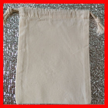 (1000pcs/lot) size 35x45cm wholesale eco plain blank cotton drawstring bag(China)