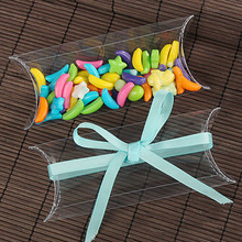 2.5*6.5*15cm 30Pcs/Lot Transparent PVC Wedding Party Gift Pillow Shape Clear Pack Box Birthday Favor Candy Jewellery Packge Box