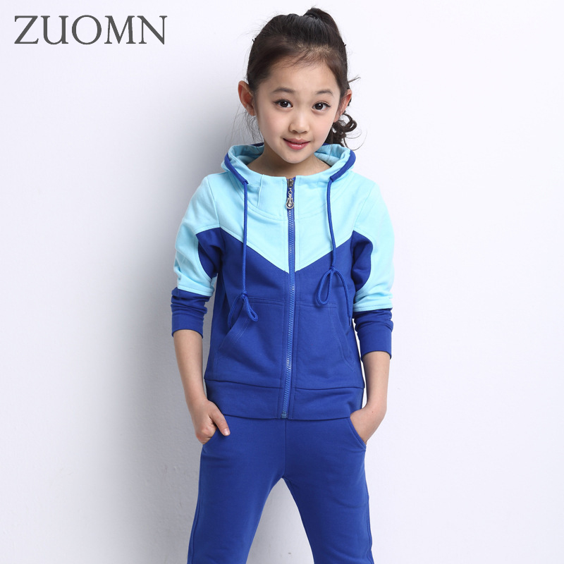 Kids Clothes Girls Spring Hoodied Coats And Pants Set Girls Clothes Sportswear Suit Kids Wear Child Clothing Sports Suits YL464<br>