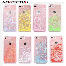 Buy LOVECOM iPhone 7 7 Plus 6 6 Plus 5 5S SE 5C Cases Dynamic Liquid Love Heart Quicksand Back Cover Hard PC Phone Cases Coque for $1.50 in AliExpress store