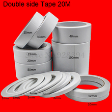 Double Side Adhesive Tape Office Tape School Supplies For DIY Craft 20Meter x 2mm ~100mm(China)