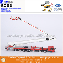 1:50 Scale Model, Diecast Toy, Construction Model, XCMG DG100 Fire Truck Model with Firemen Figure Doll