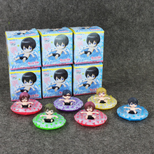 6pcs/lot Cute PVC Japanese Anime Free! Iwatobi Swim Club Rin Macoto Haruka Nanase Rei Action Figures Model Toy 3cm