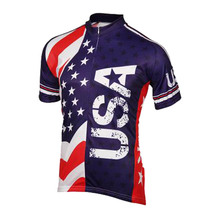 Men classic cyling jersey American flag short riding racing Triathlon Professional bicycle team Wear Racing clothing USA Bicycle