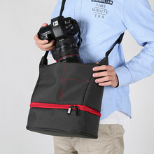 New Fashion Nylon Material Outdoor Photography DSLR SLR Camera Shoulder Bag Waterproof Abrasion Resistant Portable Multi-colors.