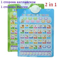 Russian English French Portuguese ABC electronic baby alphabet early learning educational machine wall phonetic chart study toy(China)