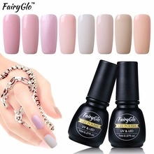 FairyGlo 7ml Light Color Gel Polish UV Gel Nail Polish Semi Permanent Hybrid Varnish Lucky Lacquer Paint GelLak Stamping Enamel(China)