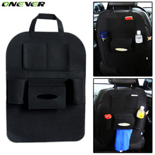 ONEVER High Grade Car Seat Bag Organizer Multi Pocket Insulation Automobile Seat Back Humanized Storage Bag Felt Covers(China)
